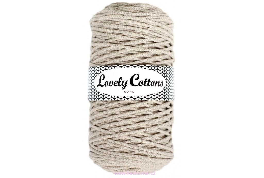 Šňůra Lovely Cottons - cappuccino - 3mm/200m, cs3-003