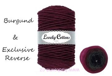 Lovely Cottons BURGUND + Cherubínka EXCLUSIVE REVERSE