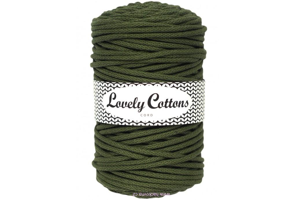 Šnůra Lovely Cottons - khaki - 5mm/100m