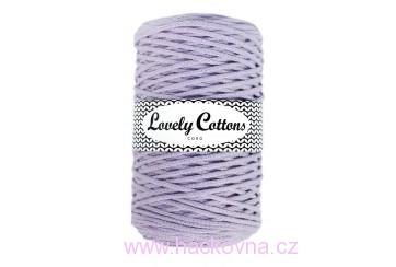 Šňůra Lovely Cottons - lila 3mm/200m, cs3-026