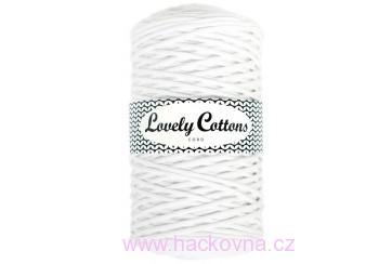 Šňůra Lovely Cottons - bílá - 3mm/200m