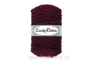 Šňůra Lovely Cottons - burgund 3mm/200m, cs3-032