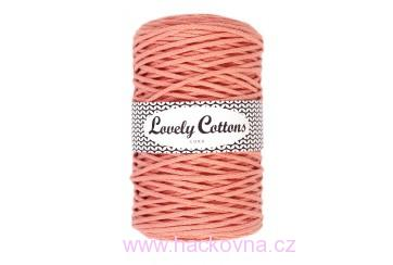 Šňůra Lovely Cottons - broskvová 3mm/200m