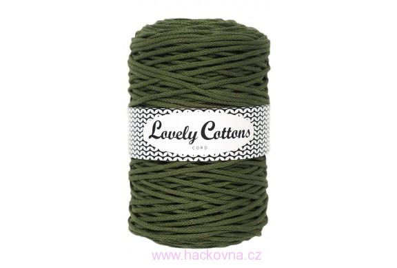 Šňůra Lovely Cottons - khaki - 3mm/200m, cs3-052