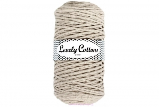 Šňůra Lovely Cottons - cappuccino - 3mm/200m