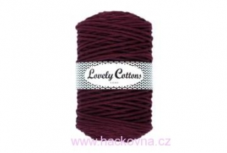 Šňůra Lovely Cottons - burgund 3mm/200m
