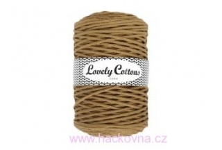 Šňůra Lovely Cottons -velbloudí - 5mm/100m