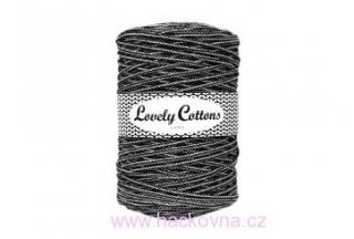 Šňůra Lovely Cottons - černobílá 3mm/200m