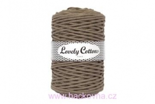 Šňůra Lovely Cottons - kávová 3mm/200m